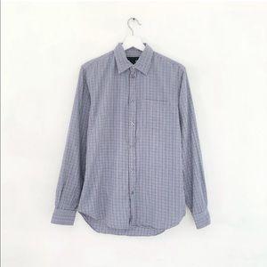 Marc Jacobs mens button front shirt plaid oxford S